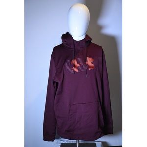 Under armor maroon pull over hoodie